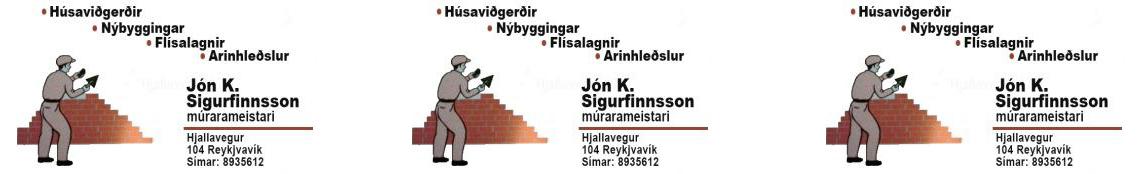 Mynd af Jón Kjartan Sigurfinnsson Múrarameistari