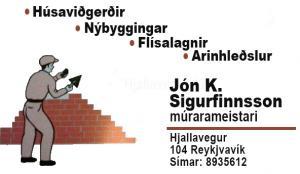 Lógo af Jón Kjartan Sigurfinnsson Múrarameistari